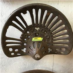 Cast Iron Implement Seat: P. P. C. O.