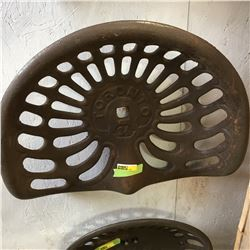 Cast Iron Implement Seat: TORONTO 34