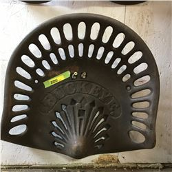 Cast Iron Implement Seat: BUCKEYE