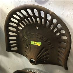 Cast Iron Implement Seat: PATTERSON
