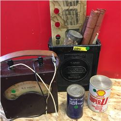 Genuine Battery Box, Volt Meter, Flares, etc