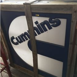 Cummins Sign - Double Sided 4'x4' (Still in Crate!)