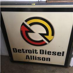 Detroit Diesel Allison Sign - Lighted 4'x4' (No Bulbs)