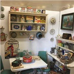 Retro Kitchen Room Display - Table, Chairs, Tins & More!