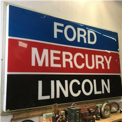 Ford/Mercury/Lincoln Sign - 10' Wide x 6' High (Note: Minor Cracks)