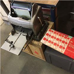 Gestetner 120 w/Original Shipping Crate & Stencils Packs