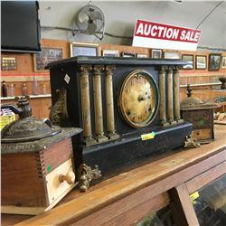 Mantle Clock (Battery Conversion) & 2 Coffee Grinders