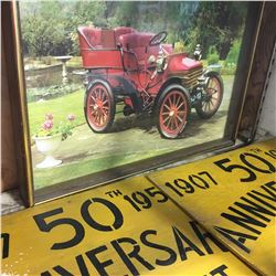 3D Picture Car Clock & Elk Point Anniversary Board Signs (2)
