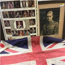 Edward VIII Framed Picture & British Monarchy Cardboard & British Flag !