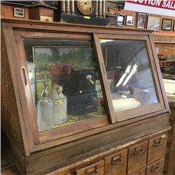 Counter Top Sliding Door Display Cabinet (No Contents)