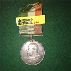 Militaria : War Medal : J. Crisp R.F.A (76954 DVR South Africa 1901-1902)