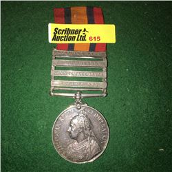 Militaria : War Medal : 13 Pte. W. Avery - The Canadian Mounted Rifle (Boer War: Cape Colony, Orange