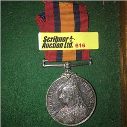 Militaria : War Medal : 9889 Pte. G. Baldwin (Boer War: Royal West Kent Regiment)