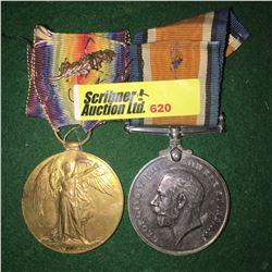 Militaria : War Medal (2): Lieut. Edwards (Great War with MID Emblem) & (1914-1918 WWI)