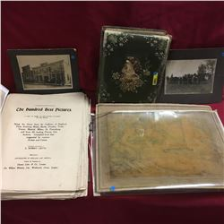 Antique Photo Album, Picture Book, Drawing from 1803 & Photographs