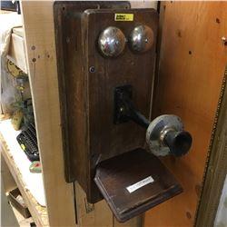 Wood Box Telephone (Needs Restoration)
