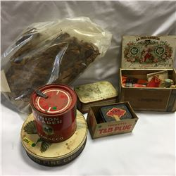 Tobacco Group of Tins, Boxes, Papers, etc
