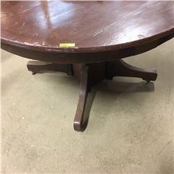 Round Wooden Pedestal Table