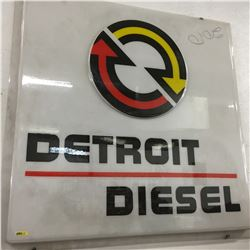 """Square Detroit Diesel Sign (48"""" x 48"""")"""