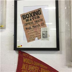 "Vintage Boxing Match Poster ""Empress Theatre Lloydminster"" , Phil Kirkham Boxing Card & World Champi"