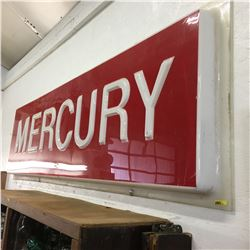 "MERCURY SIGN (Red) (96"" x 29"")"