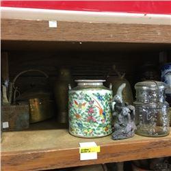 Shelf Lot: Group of Vintage Oriental/Asian Décor Items