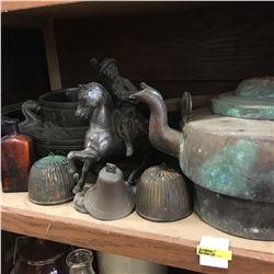 Shelf Lot: Copper Décor Items !