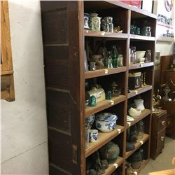 Shelving Unit - 12 Cubbies (Vintage Door Sides)  (No Contents)