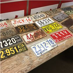 Wooden Box Lot: Collection of Lic Plates (1919 + Variety Years!)