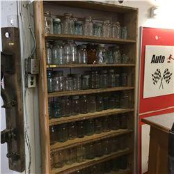 Large Jar Collection w/Shelving Unit