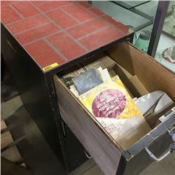 Stamp Collection w/4 Drawer Cabinet