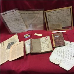 Variety of Very Old Ephemera & Note Books ! (Must Look at Dates & Historical Subject Matter)