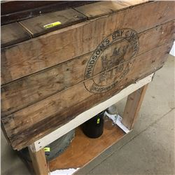 Hudson's Bay Company Wooden Crate w/Stand