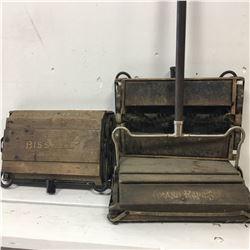 "Vintage Bissell's ""Cyco"" Bearing Carpet Sweeper (3 Heads, 1 Handle)"