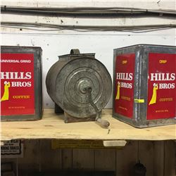 Butter Churn & Hill's Bros Coffee Tins (2)