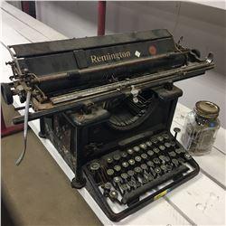 Remington 16 Typewriter w/Jar of Ribbons