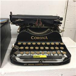 CORONA Portable Typewriter w/Case (Unique Design)