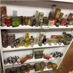 Large Collection of Confectioner Tins & Boxes & 2 Grocery Store Ads