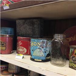 Shelf Lot - TINS: Salt, Candy, Crackers, etc !