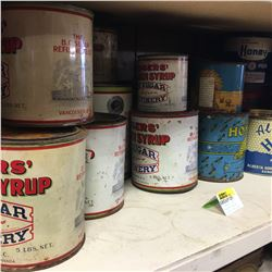 Shelf Lot - TINS: Roger's Syrup, Honey & Lard Tins
