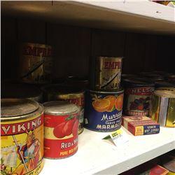 Shelf Lot - TINS: Jam & Jelly Collection !