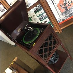 Edison Disc Phonograph Model A100 S/N#SM28591 w/Collection of Edison Discs