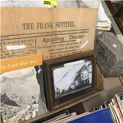 Frank Slide Ephemera, Rock & 2 Jars
