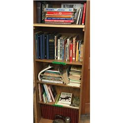 Book Case FULL of Books: Sports, Collector/References, Cats, Dogs, Horses & More !