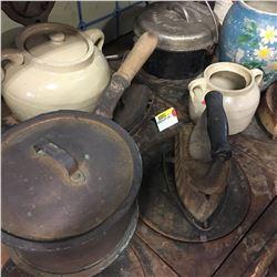 Sad Irons, Cast Iron Cookware, Medalta Pottery