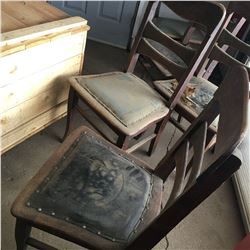 Group of 6 Wooden Chairs (Ready for Restoration)