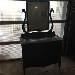 4 Drawer Wave Front Dresser w/Bevelled Mirror