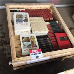 CRATE LOT #1: Encyclopedia Sets (Including: World Book, Richards ,Wildlife, Lands & Peoples, Compton