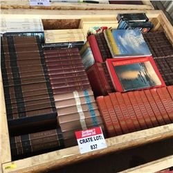 CRATE LOT #5: Encyclopedia Sets (Including: Americana, Our Wonderful World, World Book, etc)