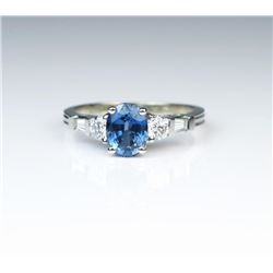 Brilliant Ceylon Colored Sapphire & Diamond Ring